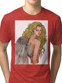 A Devil With Angel Eyes Tri-blend T-Shirt