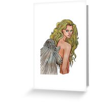 A Devil With Angel Eyes Greeting Card