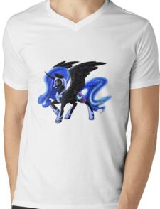 Nightmare Moon Mens V-Neck T-Shirt