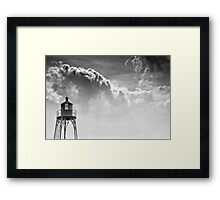 Ship's Beacon at Vlissingen, The Netherlands Framed Print