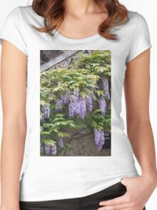 wisteria in spring Women's Fitted Scoop T-Shirt