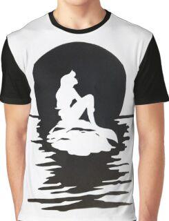Moonlight Mermaid Graphic T-Shirt