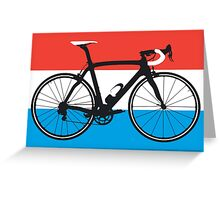 Bike Flag Luxembourg (Big - Highlight) Greeting Card