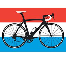 Bike Flag Luxembourg (Big - Highlight) Photographic Print