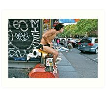ESCAPE FROM NEW YORK TARZAN Art Print