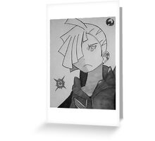 pokemon sun and moon: gladion graphite shading  Greeting Card