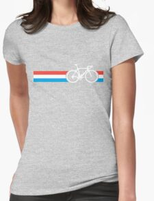 Bike Stripes Luxembourg Womens Fitted T-Shirt