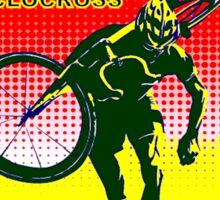 CYCLOCROSS; Bicycle Racing Advertising Print Sticker