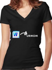 Word to your mother Women's Fitted V-Neck T-Shirt