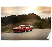 Ferrari 288 GTO Sunset Poster