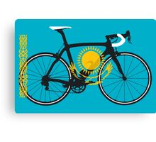 Bike Flag Kazakhstan (Big - Highlight) Canvas Print