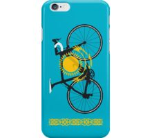 Bike Flag Kazakhstan (Big - Highlight) iPhone Case/Skin