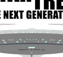 Star Trek - Minimalist Enterprise-D Sticker
