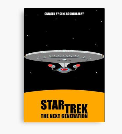 Star Trek - Minimalist Enterprise-D Canvas Print