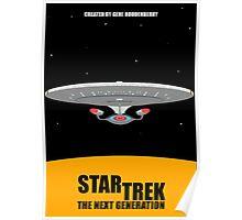 Star Trek - Minimalist Enterprise-D Poster