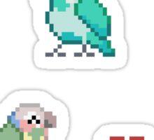 Pixel Parrots Sticker