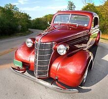 1938 Chevy Business Coupe in the Country by Adam Bykowski