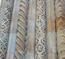 Textured Columns on an Outside Wall by Martha Sherman