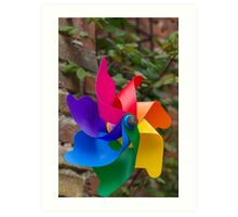 colored pinwheel Art Print