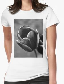 Tulip Up Close and Stark Womens Fitted T-Shirt