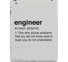Funny Engineer Definition iPad Case/Skin
