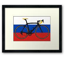 Bike Flag Russia (Big - Highlight) Framed Print