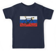 Bike Flag Russia (Big - Highlight) Kids Tee