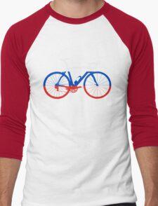 Bike Flag Russia (Big) Men's Baseball ¾ T-Shirt