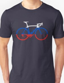 Bike Flag Russia (Big) Unisex T-Shirt