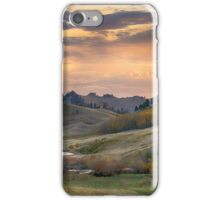 Sunset in the Bear Paws, Montana iPhone Case/Skin