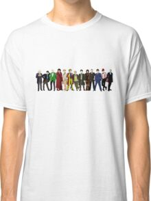 Doctor Who - 13 Doctors lineup Classic T-Shirt