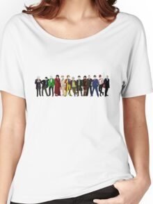 Doctor Who - 13 Doctors lineup Women's Relaxed Fit T-Shirt