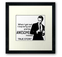 himym Barney Stinson Suit Up Awesome Framed Print