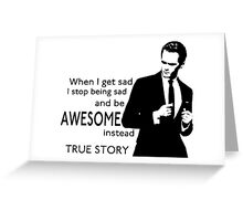 himym Barney Stinson Suit Up Awesome Greeting Card