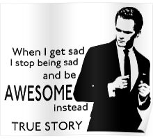 himym Barney Stinson Suit Up Awesome Poster