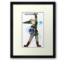 Link and Navi Framed Print