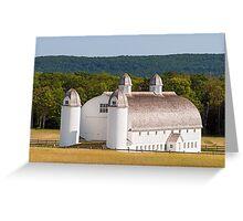 Huge White Barn in Michigan Greeting Card
