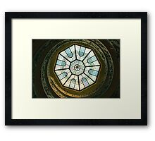 Vatican Museum Stairway, Looking UP Framed Print
