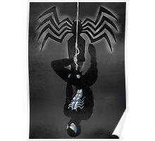 Black Suit Spiderman Poster
