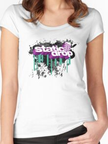 Static Drop 3D (3) Women's Fitted Scoop T-Shirt