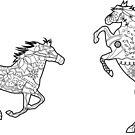 Two horses by Marishkayu
