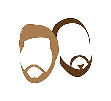 Adam and Bruce's Beards Photographic Print