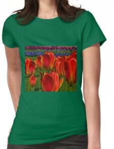 Tulip Field Womens Fitted T-Shirt
