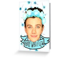 Chris Colfer Flower Crown Greeting Card