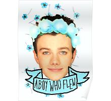 Chris Colfer Flower Crown Poster