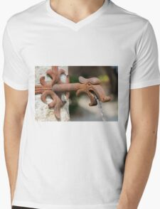 water gushing from the fountain Mens V-Neck T-Shirt