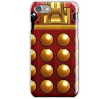 Red and Gold Dalek Supreme Mug iPhone Case/Skin