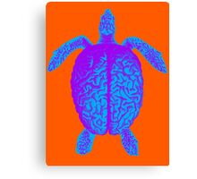 Psychedelic Turtle Brain Canvas Print
