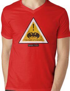Repel First!! Mens V-Neck T-Shirt