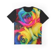 Rainbow Roses Graphic T-Shirt